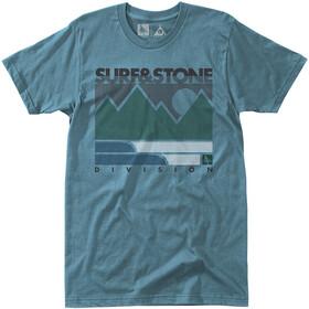 Hippy Tree Linework - T-shirt manches courtes Homme - bleu